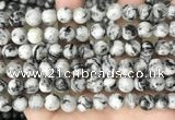 CLJ500 15.5 inches 4mm,6mm,8mm,10mm & 12mm round sesame jasper beads