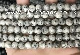 CLJ501 15.5 inches 4mm,6mm,8mm,10mm & 12mm round sesame jasper beads