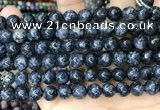 CLJ522 15.5 inches 4mm,6mm,8mm,10mm & 12mm round sesame jasper beads