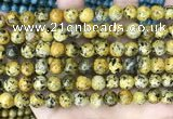 CLJ525 15.5 inches 4mm,6mm,8mm,10mm & 12mm round sesame jasper beads
