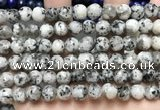 CLJ551 15.5 inches 6mm,8mm,10mm & 12mm faceted round sesame jasper beads