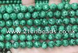 CLJ560 15.5 inches 6mm,8mm,10mm & 12mm faceted round sesame jasper beads
