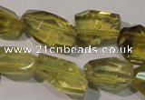 CLQ256 15.5 inches 15*18mm faceted nuggets natural lemon quartz beads