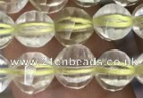CLQ321 15.5 inches 6mm faceted round natural lemon quartz beads