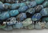 CLR07 16 inches 8*12mm rice larimar gemstone beads wholesale
