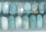 CLR112 15.5 inches 4*7mm faceted rondelle natural larimar beads