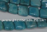 CLR380 15.5 inches 10*10mm square dyed larimar gemstone beads