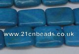 CLR441 15.5 inches 10*14mm rectangle dyed larimar gemstone beads