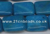 CLR444 15.5 inches 15*20mm rectangle dyed larimar gemstone beads
