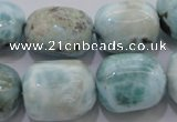 CLR53 15.5 inches 15*20mm – 18*22mm nuggets natural larimar beads