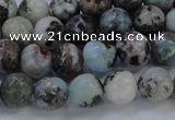CLR62 15.5 inches 8mm round natural larimar gemstone beads