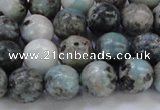 CLR63 15.5 inches 10mm round natural larimar gemstone beads