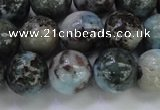 CLR64 15.5 inches 12mm round natural larimar gemstone beads