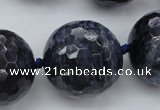 CLS12 15.5 inches 30mm faceted round large blue dumortierite beads