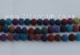 CLV524 15.5 inches 12mm round mixed lava beads wholesale