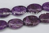 CMB36 15.5 inches 13*18mm oval dyed natural medical stone beads