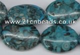 CMB50 15.5 inches 18*25mm oval dyed natural medical stone beads