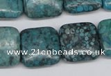 CMB54 15.5 inches 20*20mm square dyed natural medical stone beads