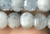 CME202 15.5 inches 7*9mm - 8*10mm pumpkin aquamarine beads