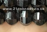 CME214 15.5 inches 7*9mm - 8*10mm pumpkin garnet beads