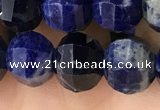 CME216 15.5 inches 7*9mm - 8*10mm pumpkin sodalite beads