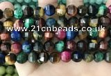 CME257 15.5 inches 10*11mm - 11*12mm pumpkin mixed tiger eye beads