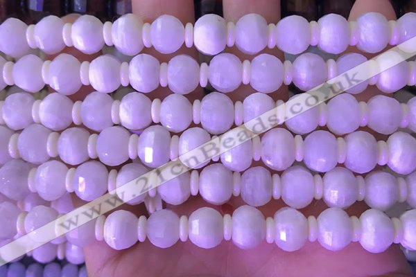 CME311 15.5 inches 8*10mm pumpkin white moonstone beads