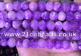 CME323 15.5 inches 9*11mm - 10*12mm pumpkin lavender amethyst beads