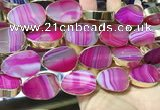 CME528 12 inches 18*28mm - 20*30mm flat teardrop banded agate beads