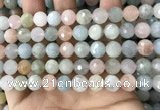 CMG381 15.5 inches 10mm faceted round morganite gemstone beads