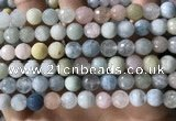 CMG387 15.5 inches 8mm faceted round morganite beads wholesale