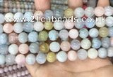 CMG404 15.5 inches 10mm round morganite beads wholesale