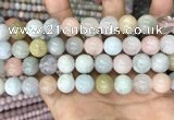 CMG405 15.5 inches 12mm round morganite beads wholesale