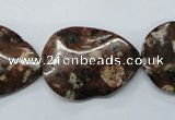 CMI03 15.5 inches 22*30mm wavy teardrop mica quartz beads wholesale