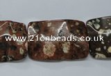 CMI09 15.5 inches 20*30mm wavy rectangle mica quartz beads wholesale