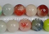 CMJ1086 15.5 inches 8mm round jade beads wholesale
