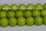CMJ220 15.5 inches 8mm round Mashan jade beads wholesale