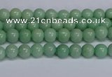 CMJ281 15.5 inches 4mm round Mashan jade beads wholesale