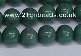 CMJ292 15.5 inches 12mm round Mashan jade beads wholesale