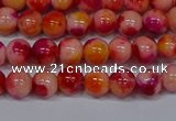 CMJ401 15.5 inches 6mm round rainbow jade beads wholesale