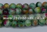 CMJ415 15.5 inches 6mm round rainbow jade beads wholesale