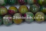 CMJ417 15.5 inches 10mm round rainbow jade beads wholesale