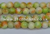 CMJ450 15.5 inches 6mm round rainbow jade beads wholesale