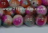 CMJ495 15.5 inches 12mm round rainbow jade beads wholesale