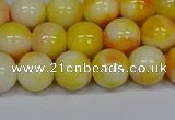 CMJ508 15.5 inches 10mm round rainbow jade beads wholesale