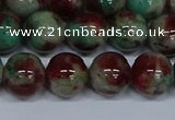 CMJ572 15.5 inches 12mm round rainbow jade beads wholesale