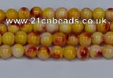 CMJ645 15.5 inches 4mm round rainbow jade beads wholesale