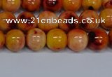 CMJ647 15.5 inches 8mm round rainbow jade beads wholesale