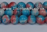 CMJ661 15.5 inches 8mm round rainbow jade beads wholesale