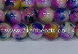 CMJ711 15.5 inches 10mm round rainbow jade beads wholesale